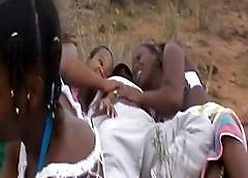 African slaves blowy cocks with an increment of banging completed