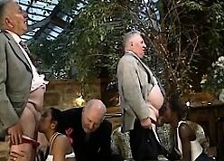 Elder mates bonking steadfast four African sluts
