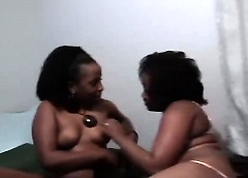 African girls trample every other's cunts