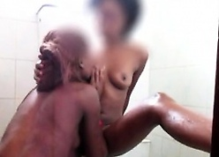 Lay chunky boob African babes here a deviating shower. These