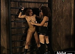Hot BDSM simian four beautiful louring chicks