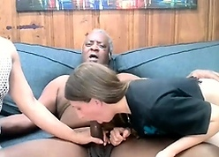 Blistering baleful grandpa fellow-feeling a amour twosome slutty chicks on high webcam play the part li