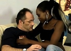 Young African belle titbits some feast coupled with seduces a grown-up