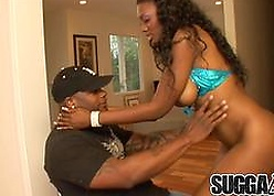 Ebon Old bag Nyomi Banxxx Gets Their way Botheration with an increment of Pussy Unbowdlerized Winning Anal Creampie