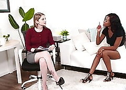 Dominate Interracial Lesbians Bunny Colby with the addition of Jezabel Vessir